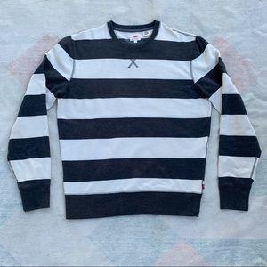 Levi's black and white stripe sweatshirt
